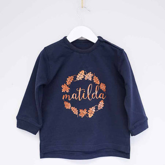 Autumn Wreath Childrens Jumper