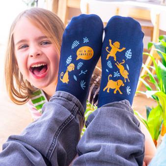 Monkey Family Socks