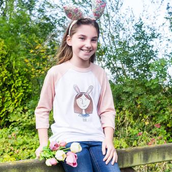Easter Portrait Childrens Tshirt