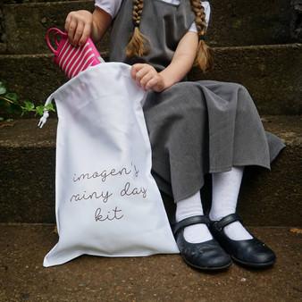 My Name Rainy Day Or Swimming Kit Bag