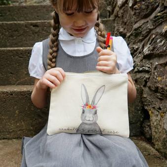 Floral Bunny Pencil Case