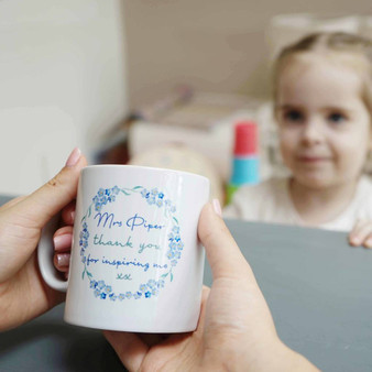 Forget Me Not Teacher Mug
