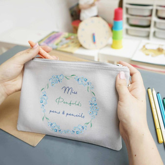 Forget Me Not Teacher Pencil Case
