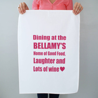 Dining At Yours Tea Towel