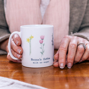 Watercolour Flower Mug