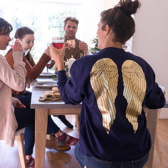 Angel Wing Christmas Jumper
