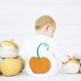 Pumpkin Baby Sleepsuit