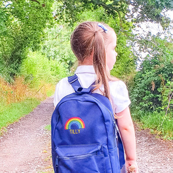 Embroidered Rainbow Children's Backpack