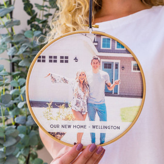 New Home Photo Hoop Wall Hanging