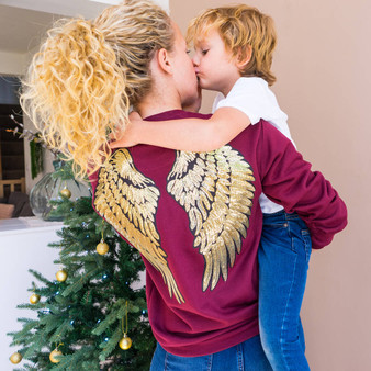 Sequin Angel Wing Jumper
