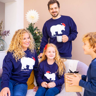 Family Polar Bear Christmas Jumpers
