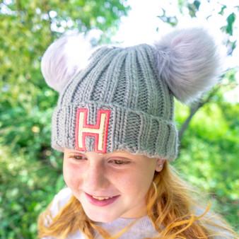 Initial Pom Pom Kids Hat