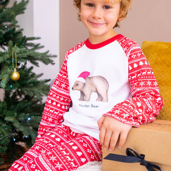 Children's Bear Christmas Pyjamas