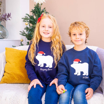 Children's Polar Bear Christmas Jumper