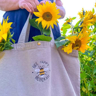 Embroidered Bee Tote Bag