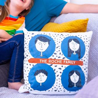 Family Portrait Cushion