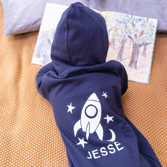 Personalised Childrens Rocket Onesie