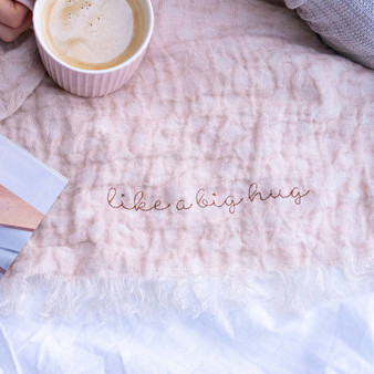 Personalised Wrap Yourself In Love Linen Throw