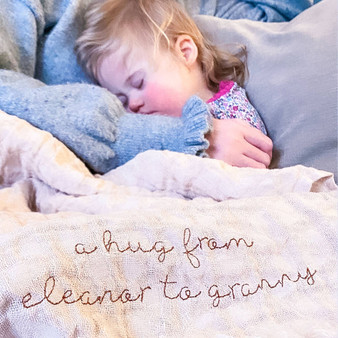 Personalised Mummy & Me Linen Blanket