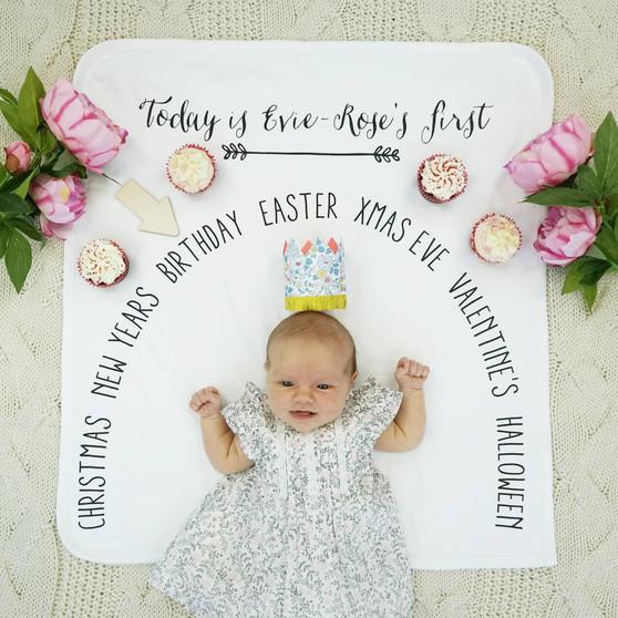 Seasonal Baby Milestone Blanket