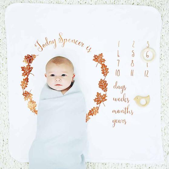 Baby Age Autumn Leaves Blanket Set