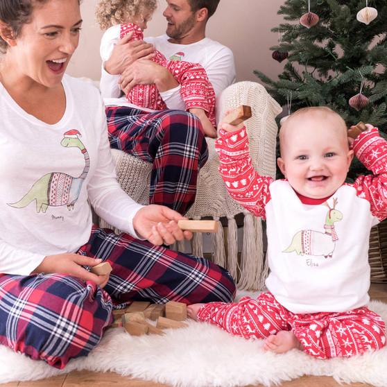 Christmas Dinosaur Family Pyjama Set