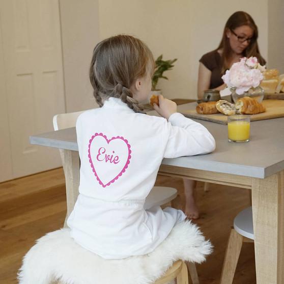 Kids Heart Dressing Gown