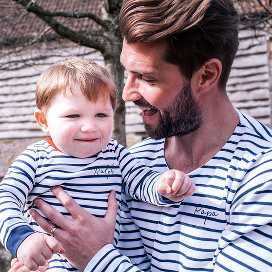 Daddy And Me Breton Tops