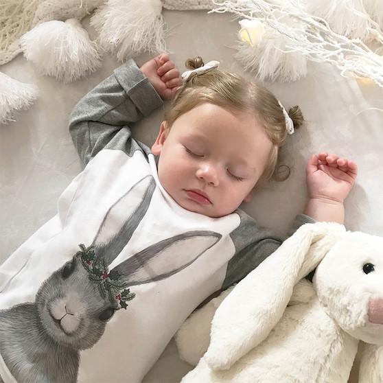 Childrens Winter Rabbit Pyjamas