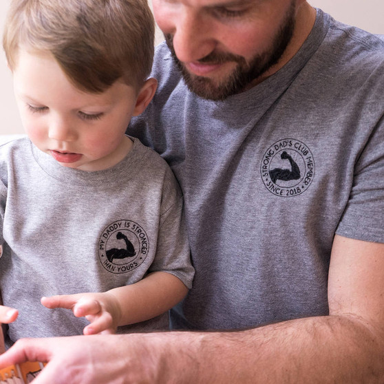 Embroidered Strong Dad's Club T Shirt Set