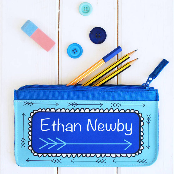 Blue Arrow Pencil Case