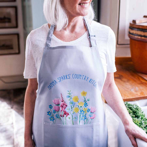 A Pocket Of Flowers Apron