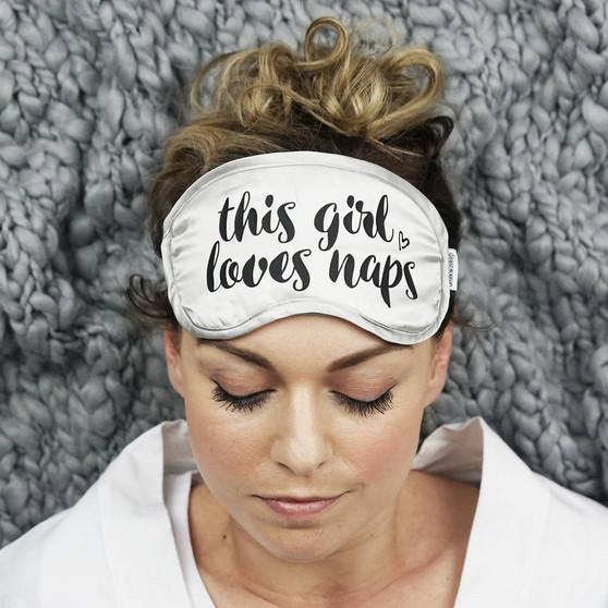 This Girl Loves Naps Silk Eye Mask