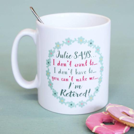 Flower Retirement Mug