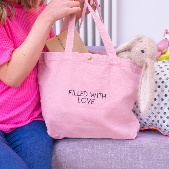 Filled With Love Canvas Tote Bag