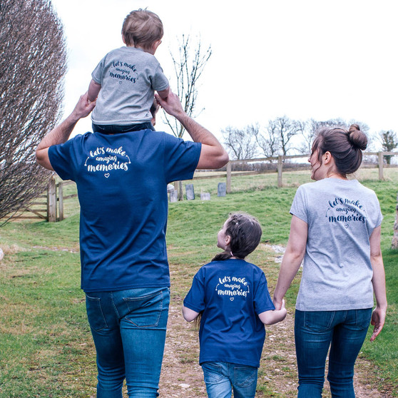 Lets Make Amazing Memories Family Tshirt Set