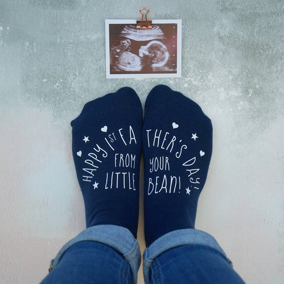 First Father's Day Little Bean Socks