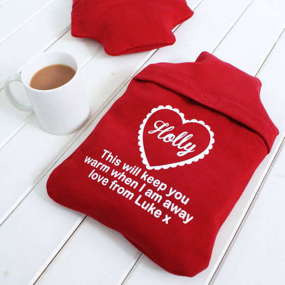 Hot Water Bottle Cover 'To Keep You Warm