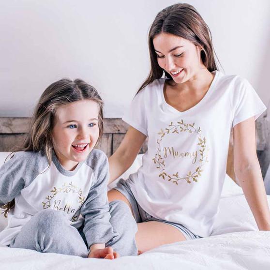 Family Winter Wreath Pyjama set