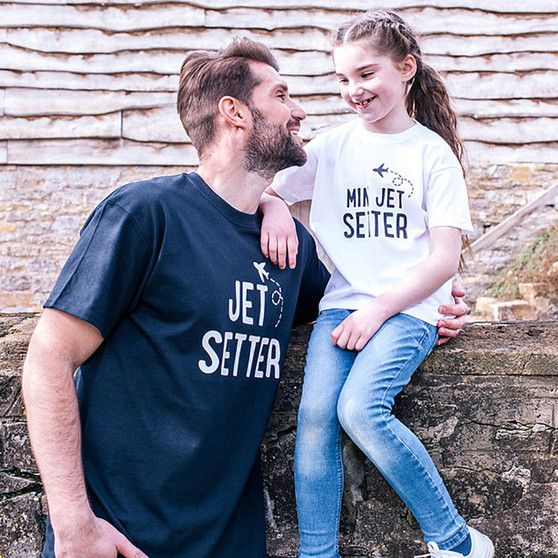 Jet Setter Daddy And Me T Shirt Set
