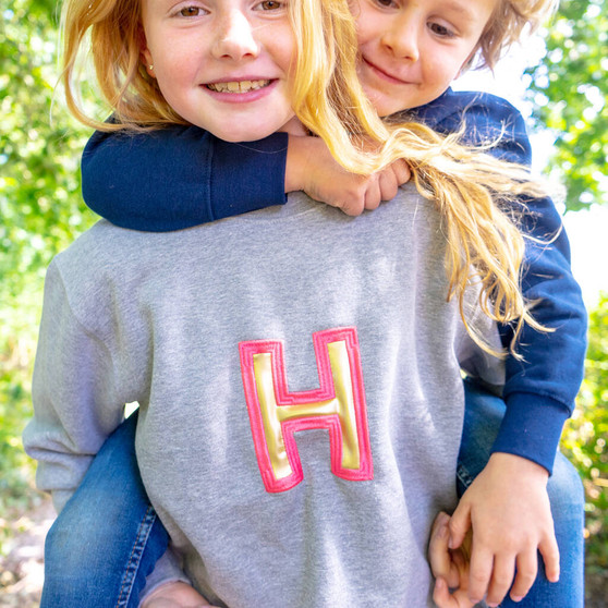 Childrens Applique Initial Jumper