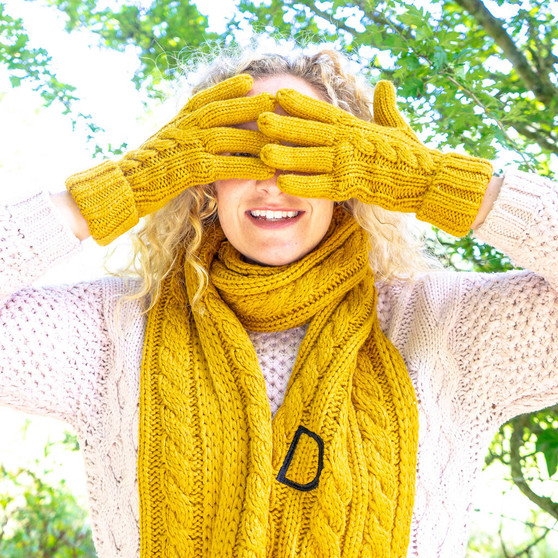Initial Knitted Scarf