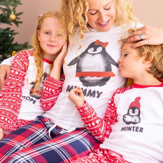 Penguin Family Christmas Pyjamas