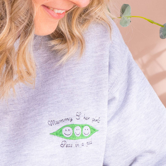 Personalised Peas In A Pod Jumper
