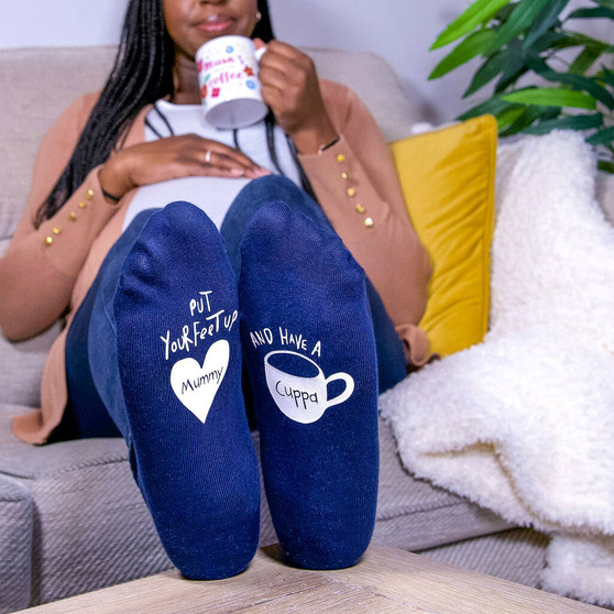 Personalised Have a cuppa womens socks