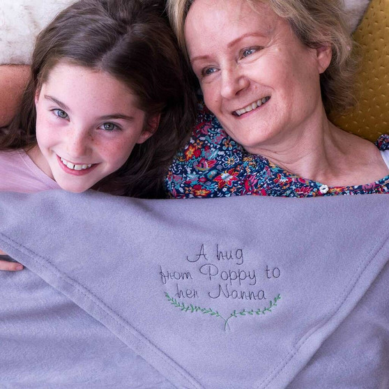Personalised Hug From Me To You Blanket