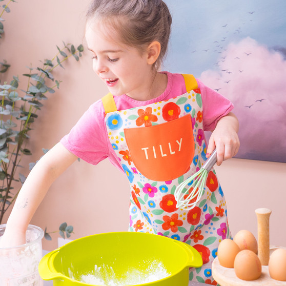 Personalised Children's Floral Cotton Apron
