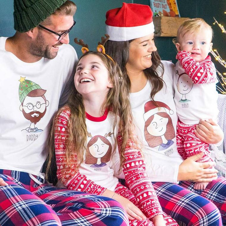 Family Portrait Christmas Pyjamas