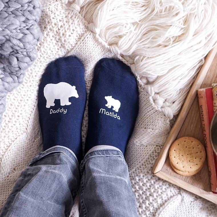 Polar Bear Daddy Men's Socks