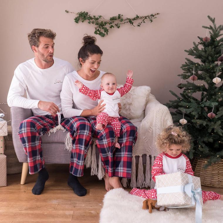 Embroidered Christmas Family Pyjama Set